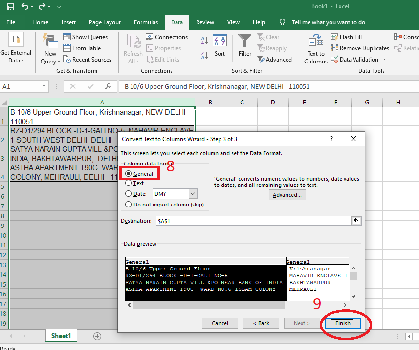How to Convert Text to Column in Excel