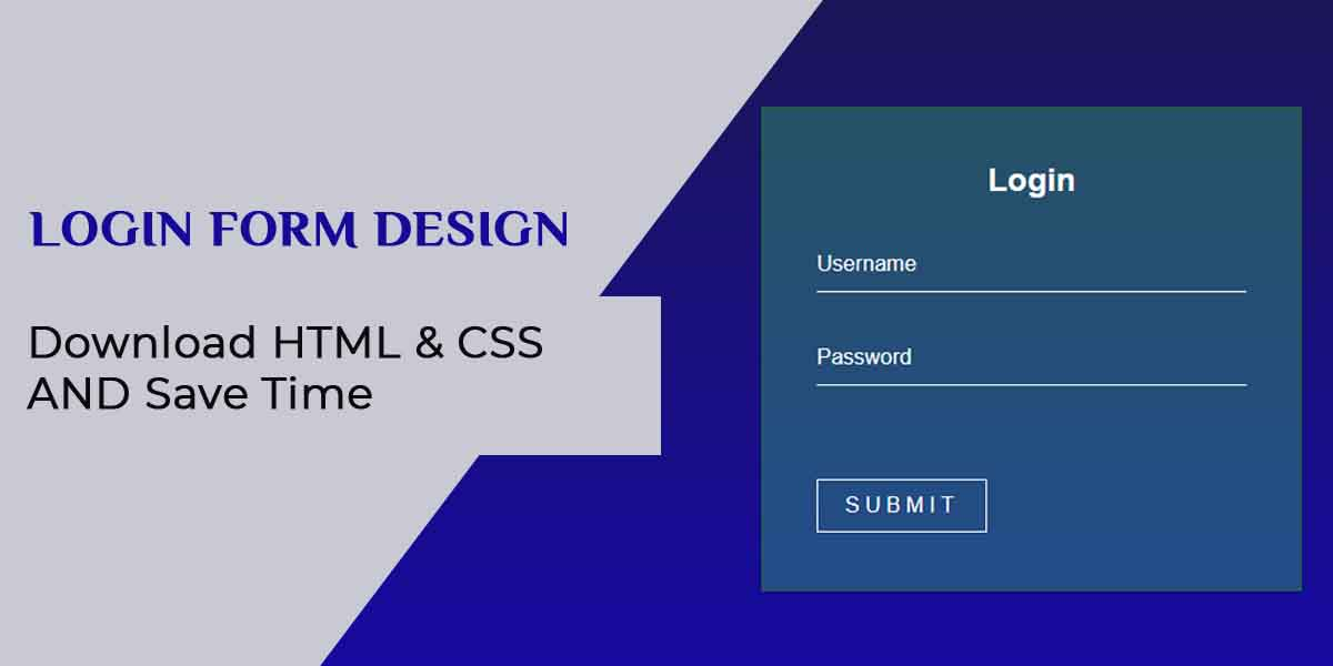 Login Form html code and CSS